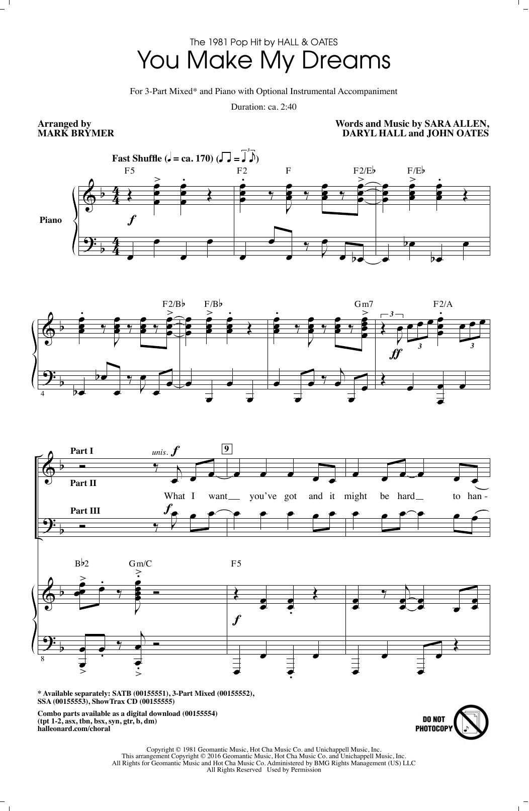 You Make My Dreams (arr. Mark Brymer) Sheet Music