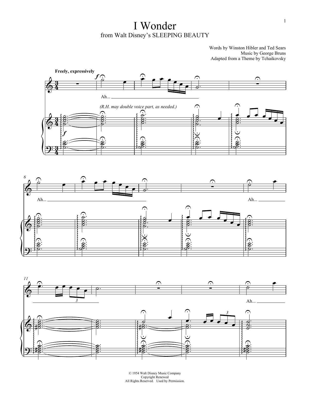 I Wonder (Piano & Vocal)