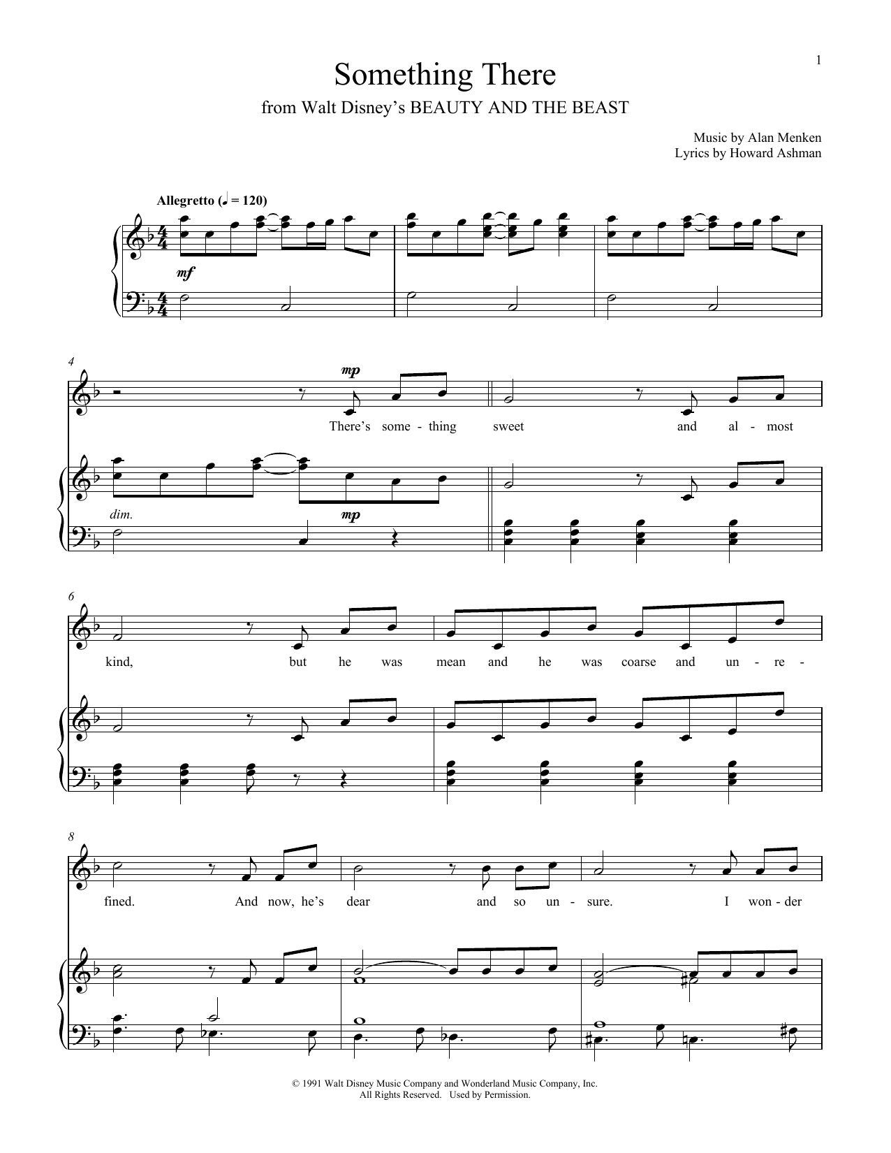 Something There (from Beauty And The Beast) (Piano & Vocal)