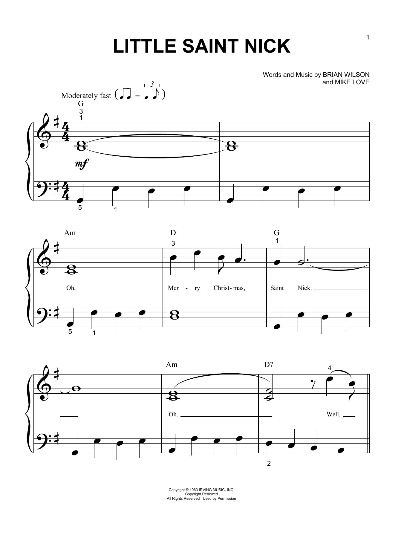 Little Saint Nick (Big Note Piano)
