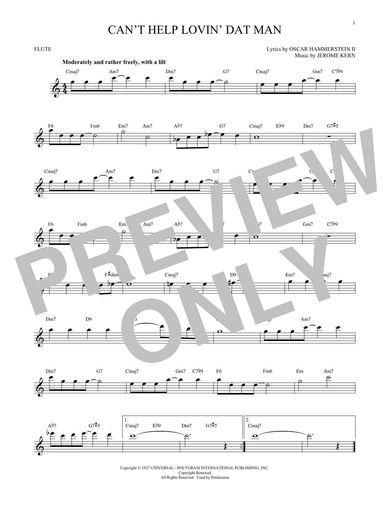 Can't Help Lovin' Dat Man (Flute Solo)