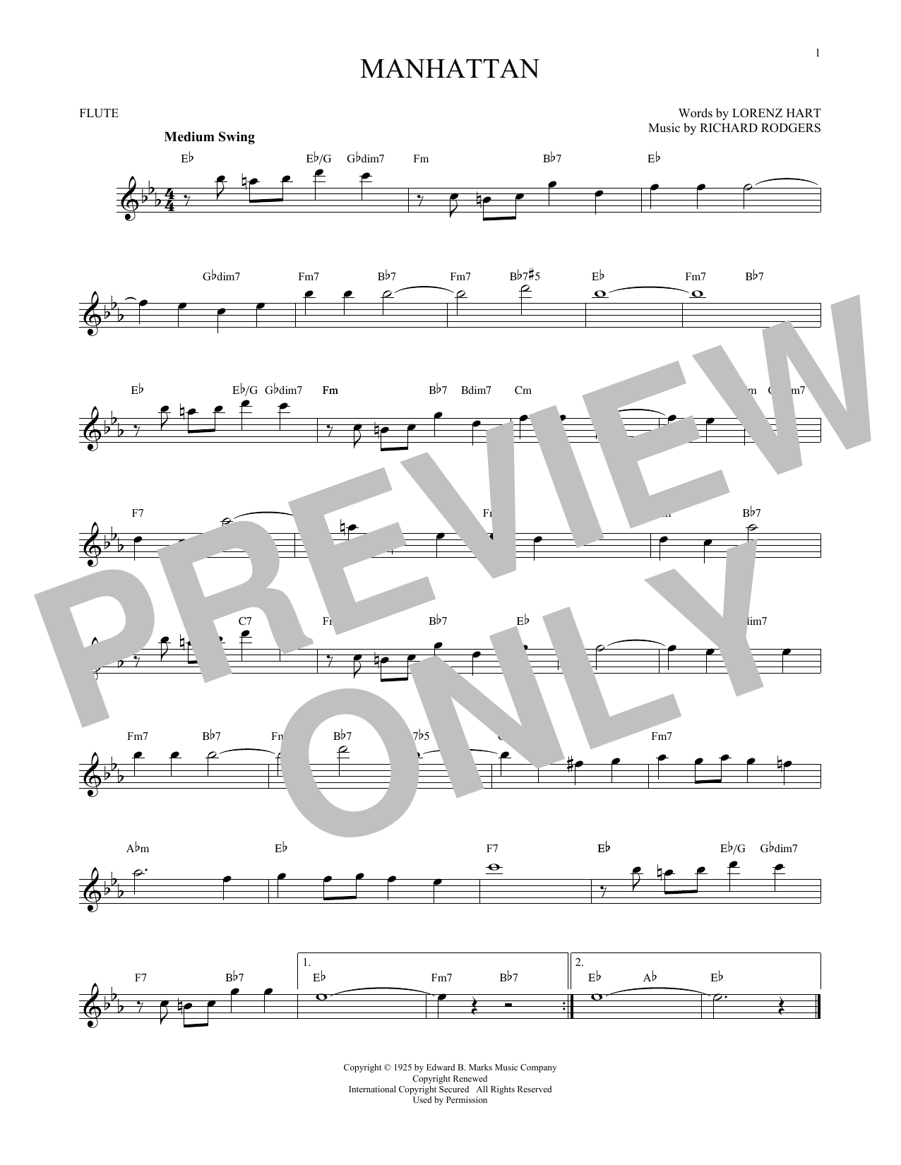 Manhattan Sheet Music