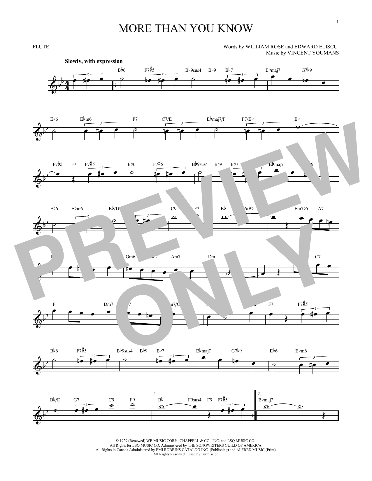 More Than You Know Sheet Music