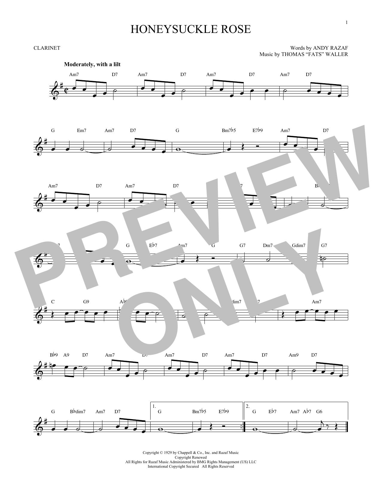 Honeysuckle Rose (Clarinet Solo)