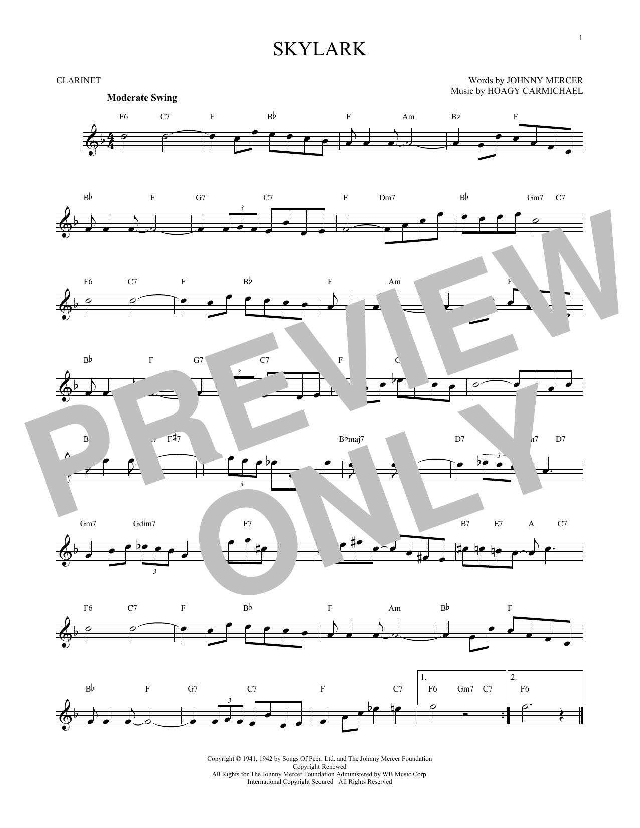 Skylark (Clarinet Solo)