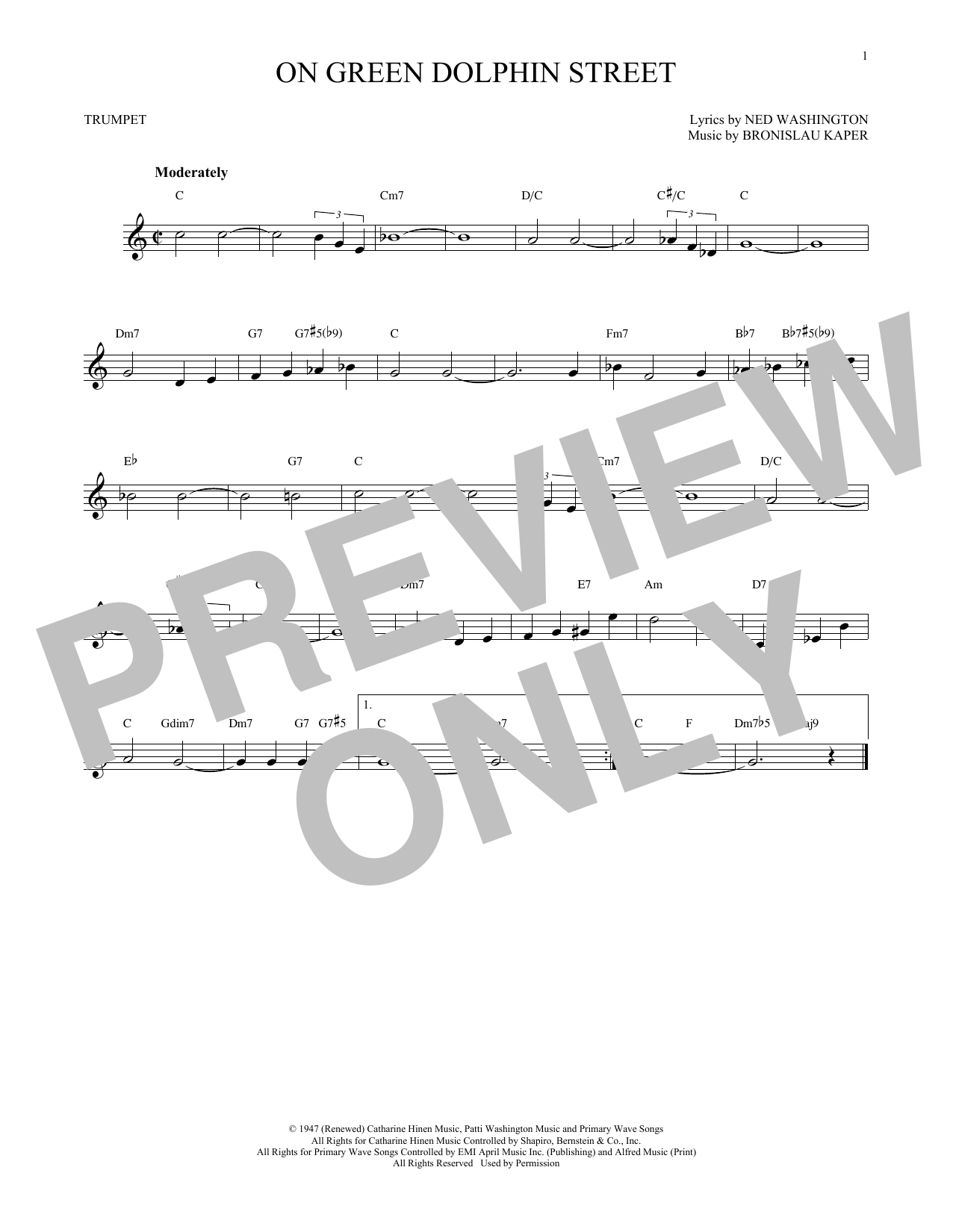 On Green Dolphin Street (Trumpet Solo)