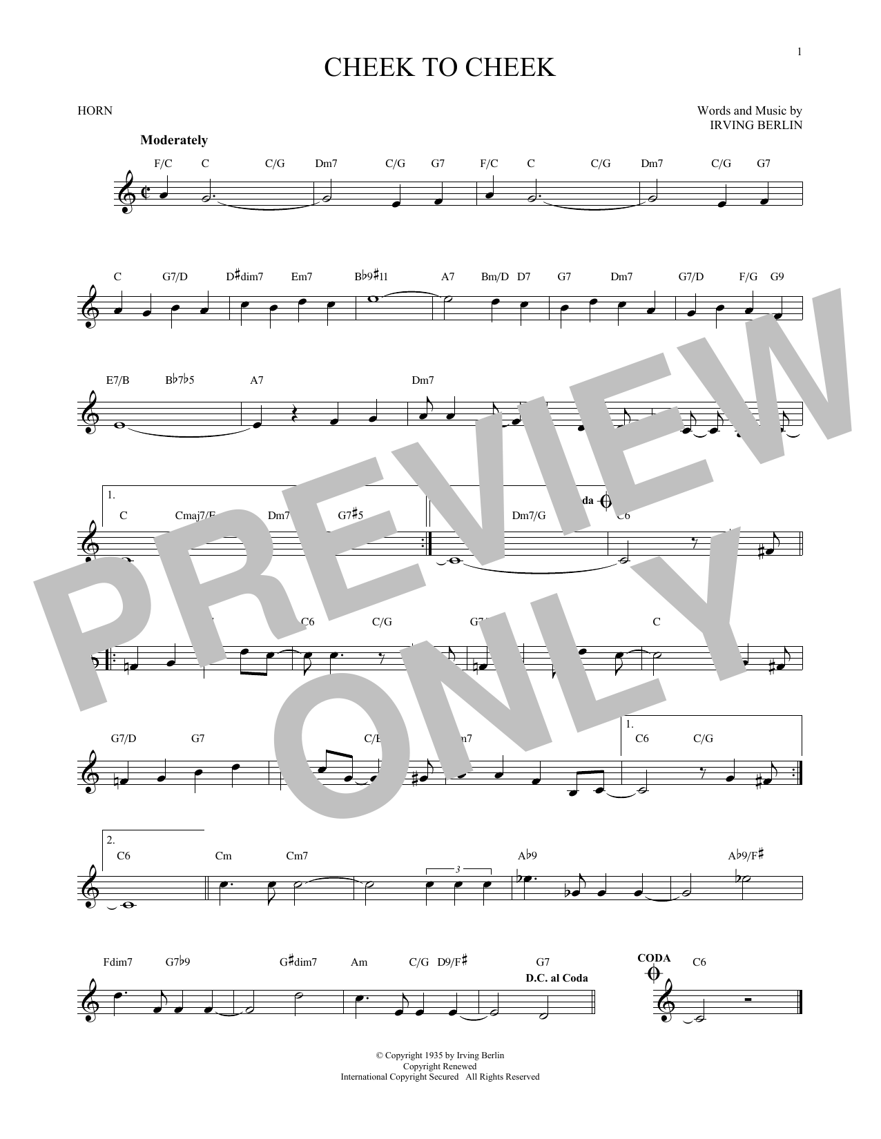 Cheek To Cheek (French Horn Solo)