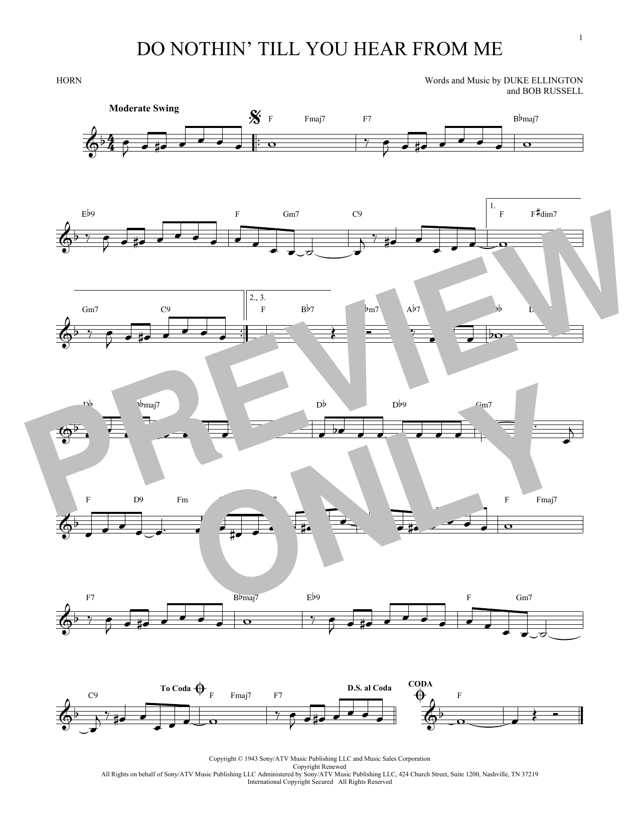 Do Nothin' Till You Hear From Me (French Horn Solo)