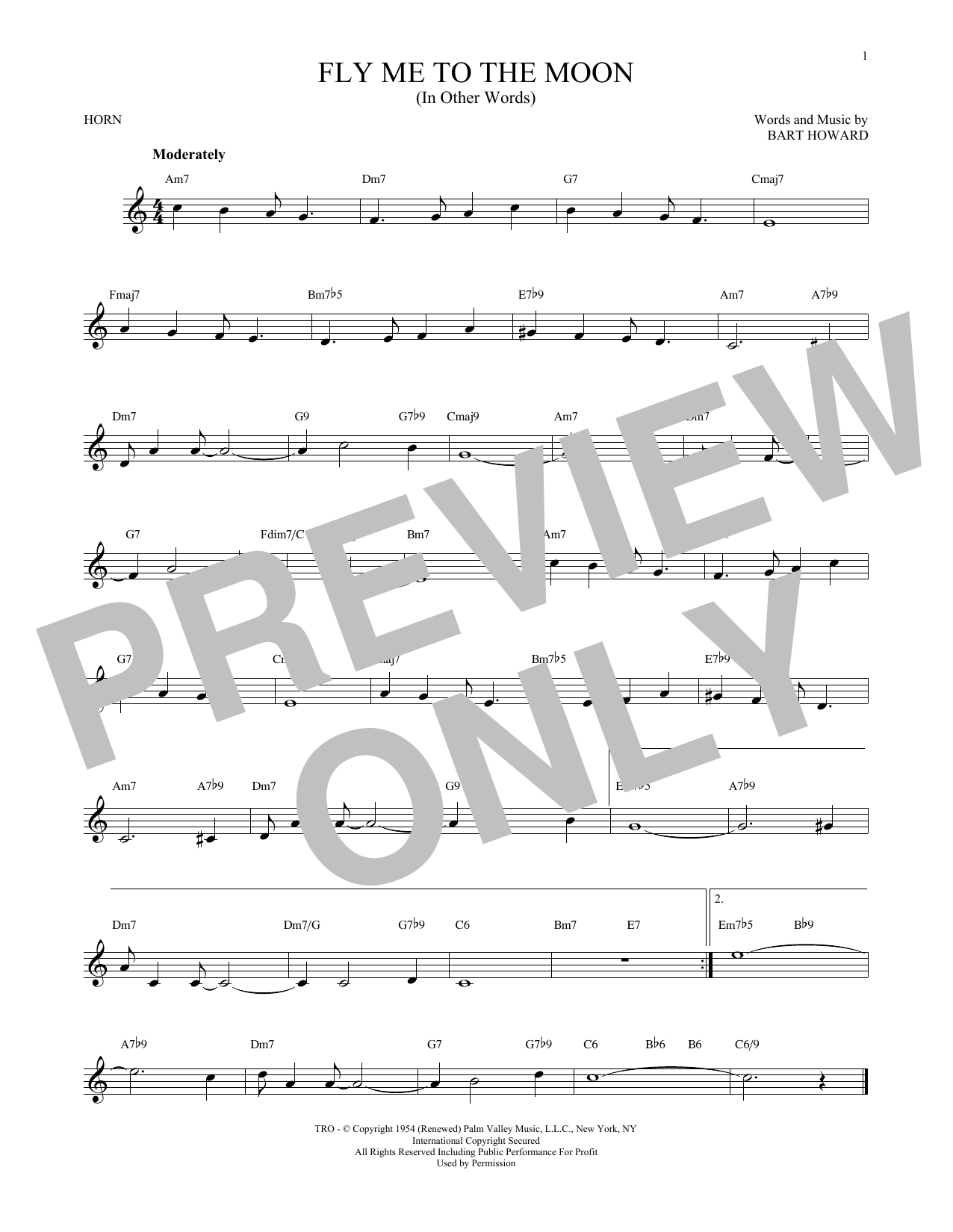 Fly Me To The Moon (In Other Words) (French Horn Solo)