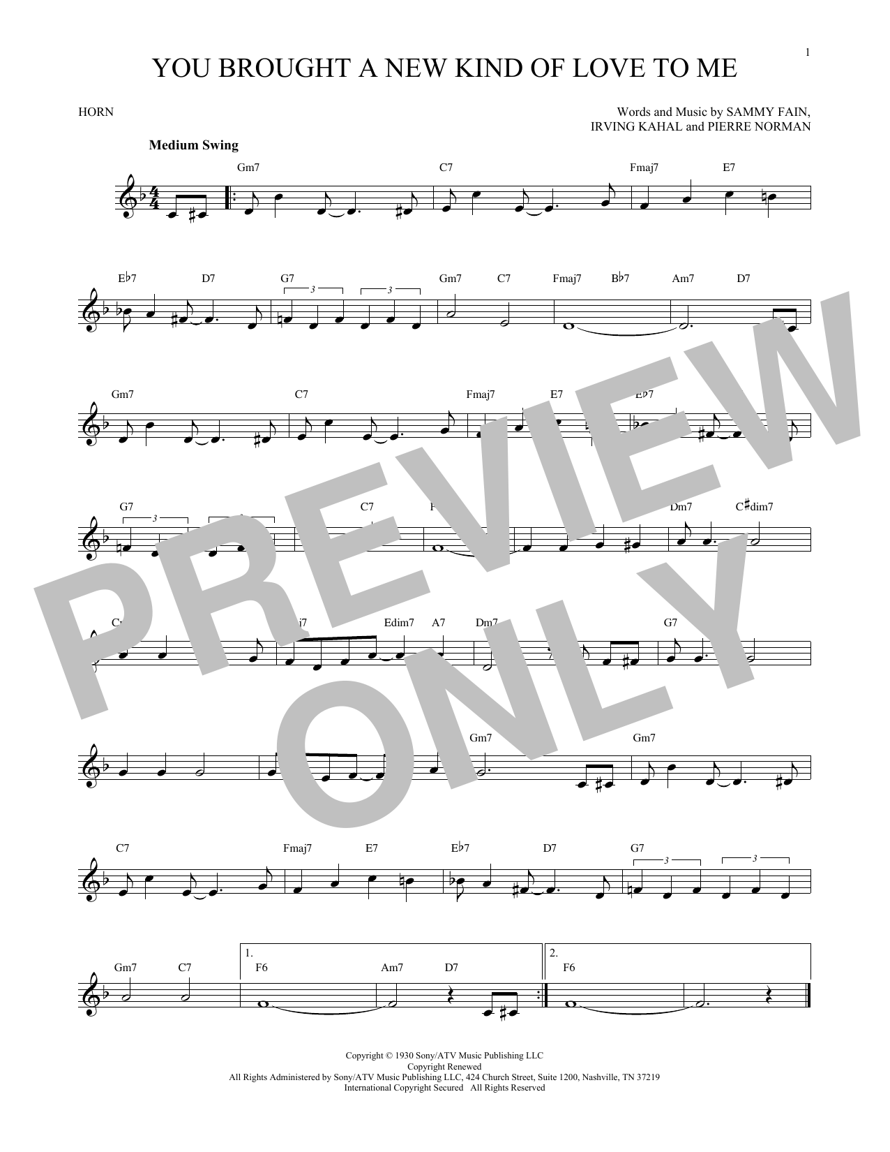 You Brought A New Kind Of Love To Me (French Horn Solo)