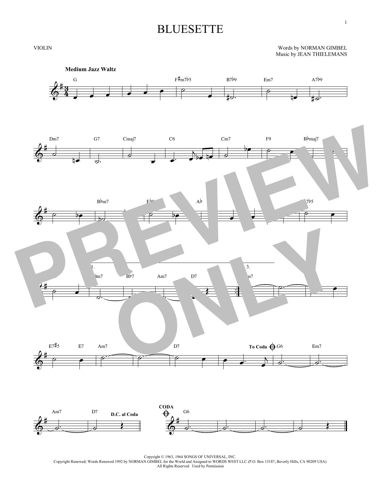 Bluesette (Violin Solo)