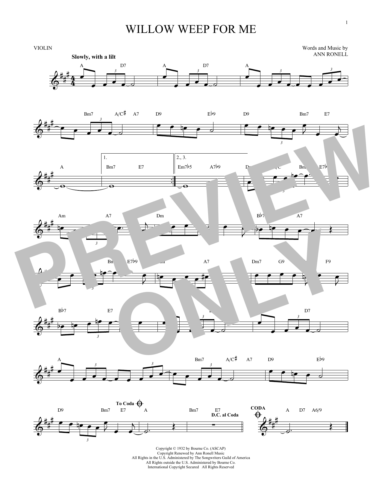 Willow Weep For Me (Violin Solo)