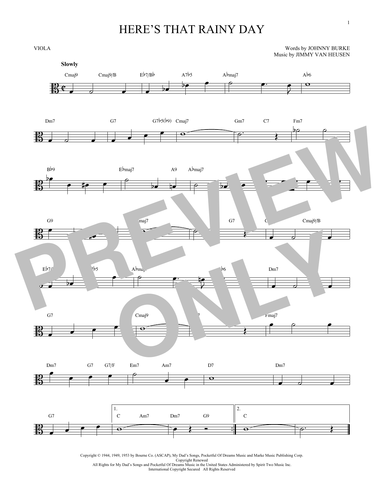Here's That Rainy Day (Viola Solo)