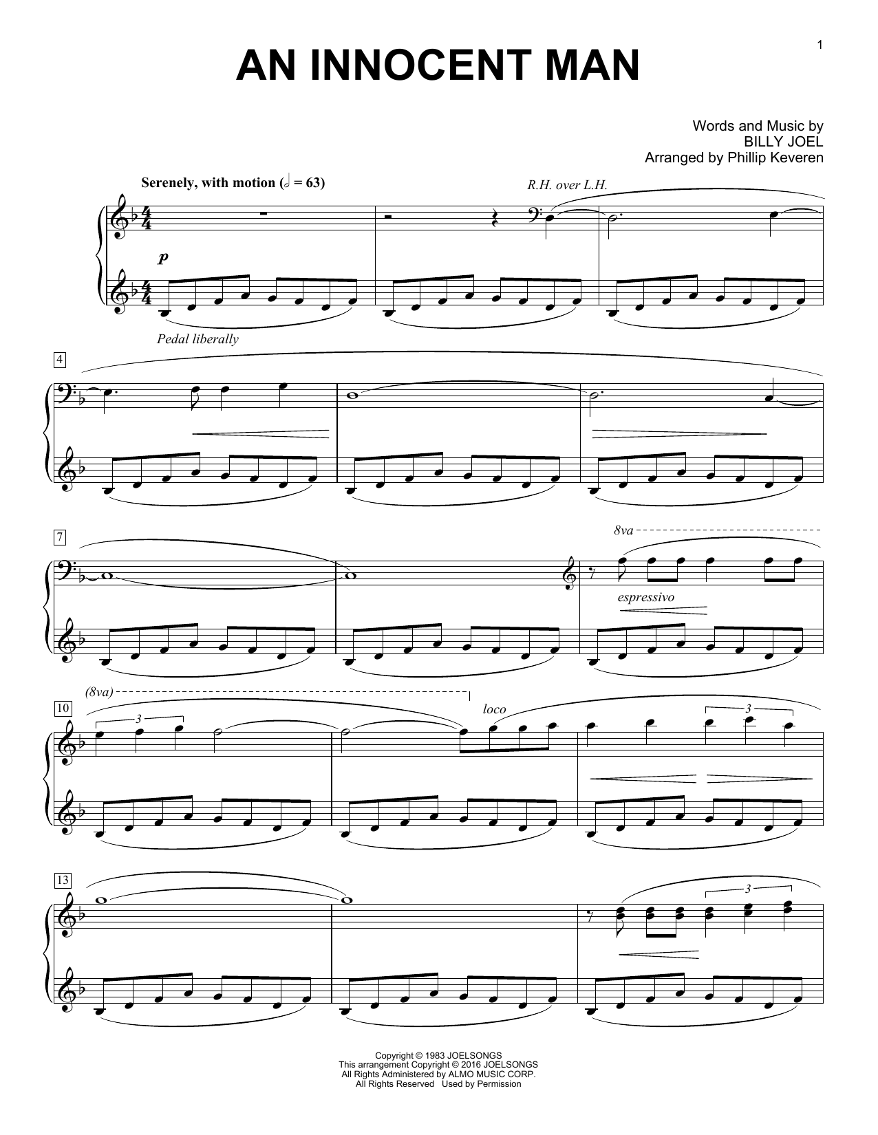 Partition piano An Innocent Man de Phillip Keveren - Piano Solo