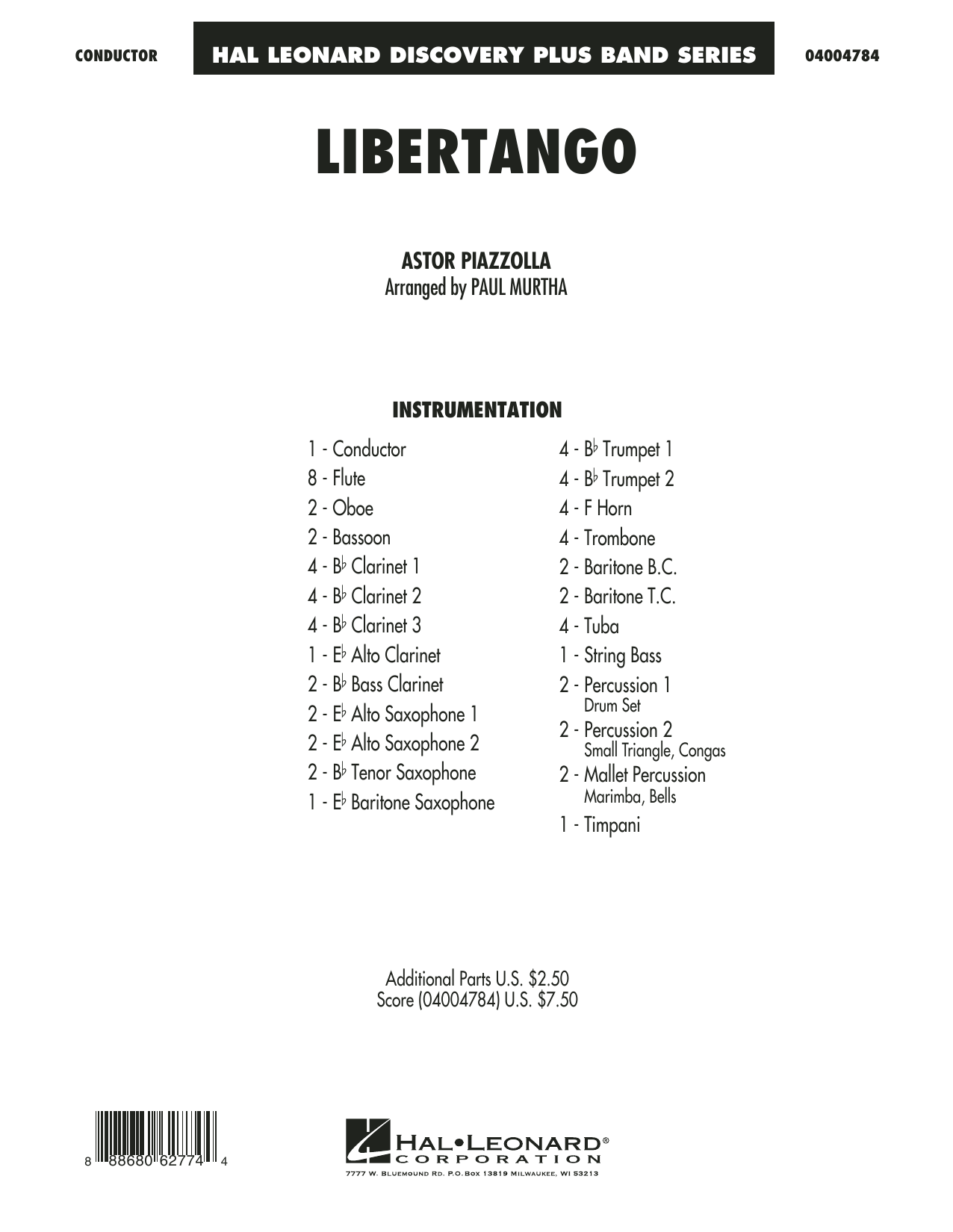 Libertango - Conductor Score (Full Score) (Concert Band)