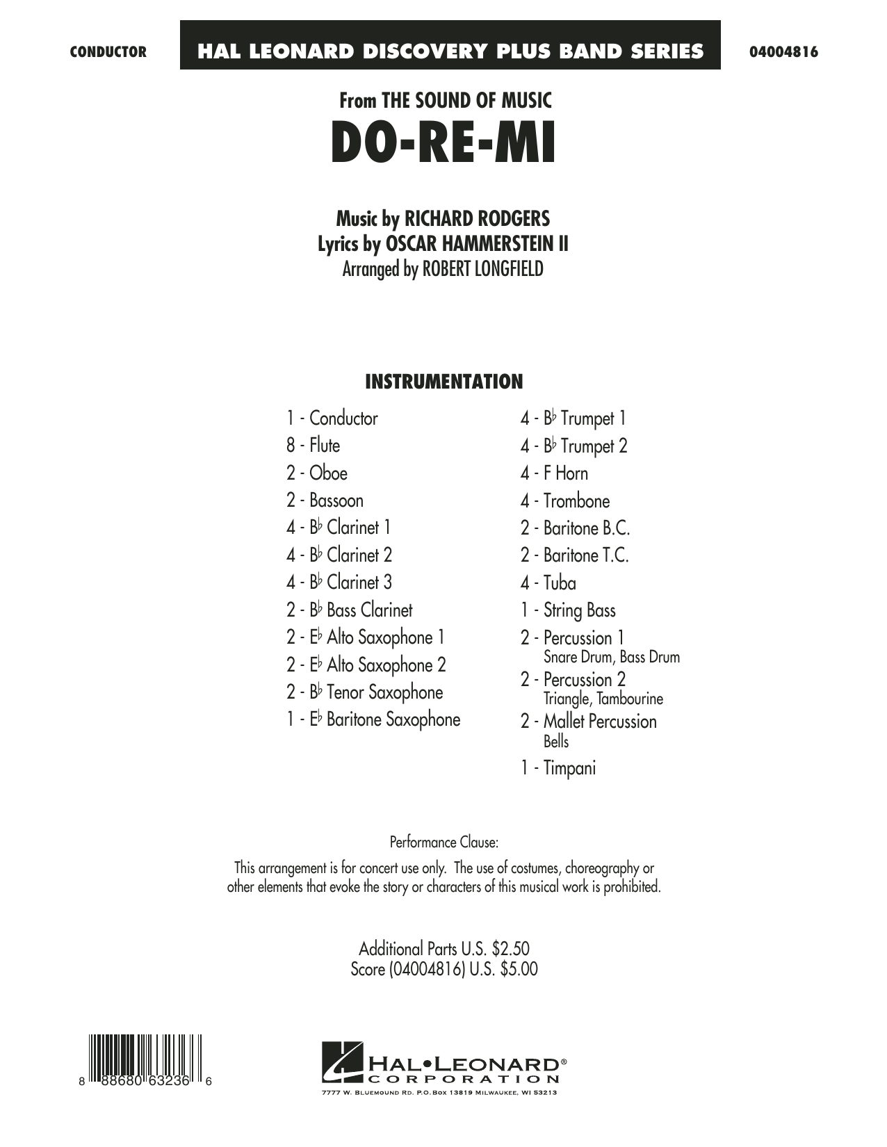 Do-Re-Mi (from The Sound of Music) (COMPLETE) sheet music for concert band by Richard Rodgers, Oscar II Hammerstein and Robert Longfield. Score Image Preview.