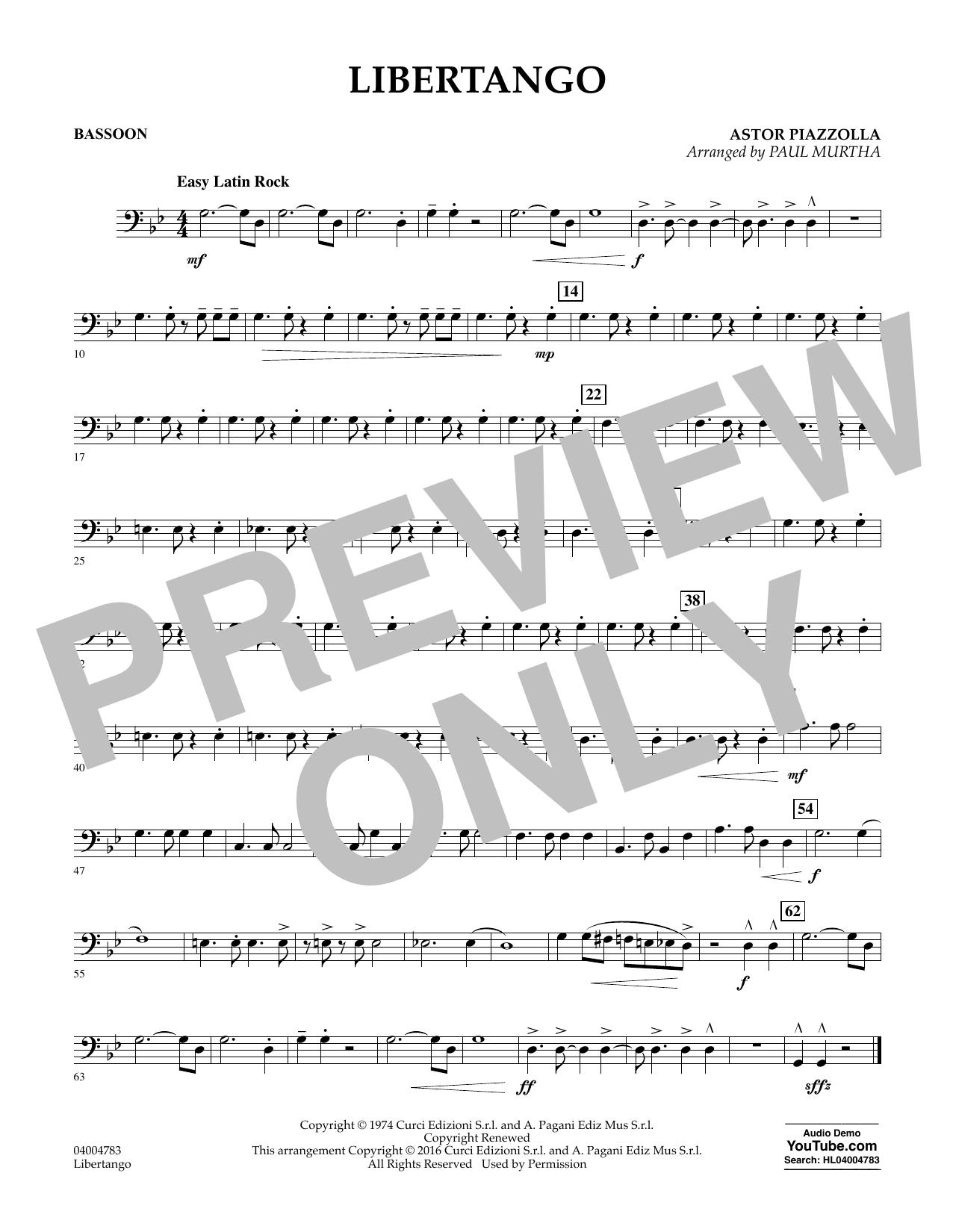 Libertango - Bassoon (Concert Band)