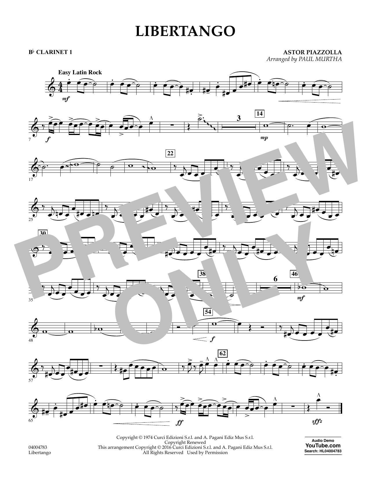 Libertango - Bb Clarinet 1 (Concert Band)