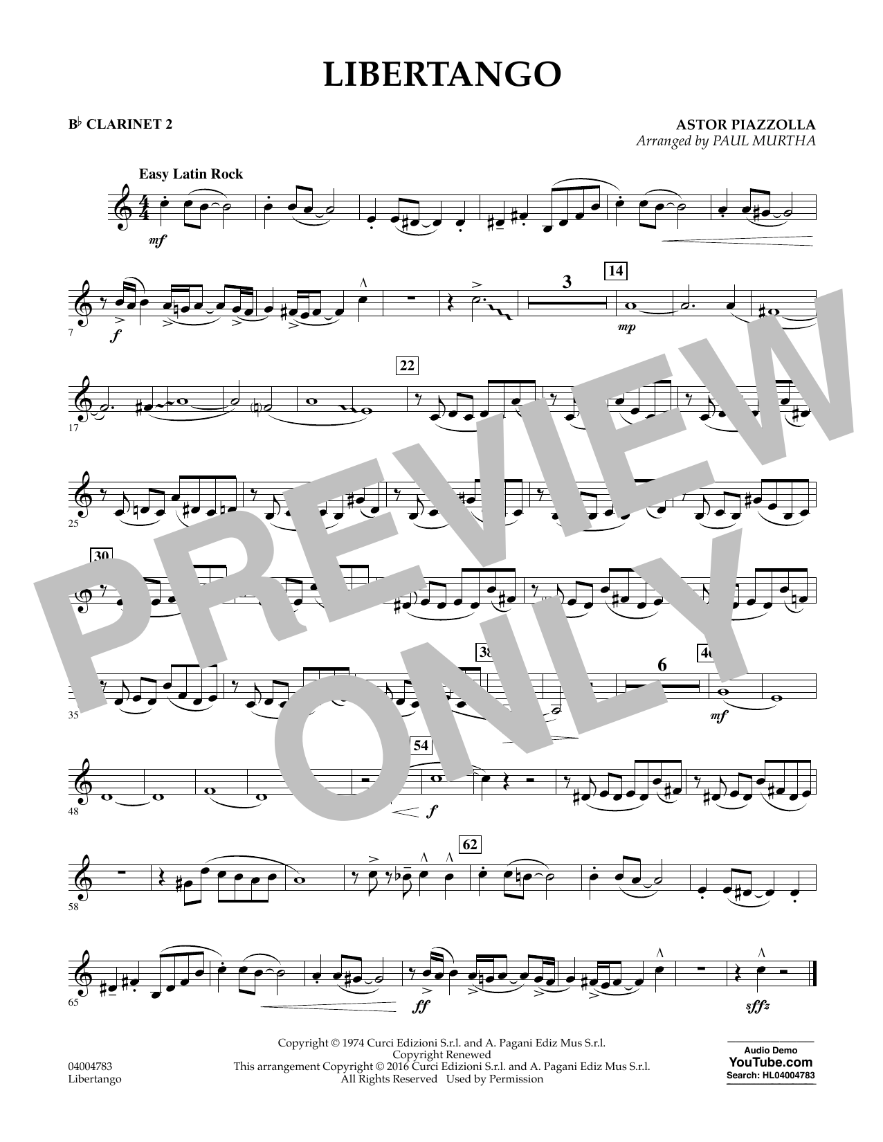 Libertango - Bb Clarinet 2 - Sheet Music to Download