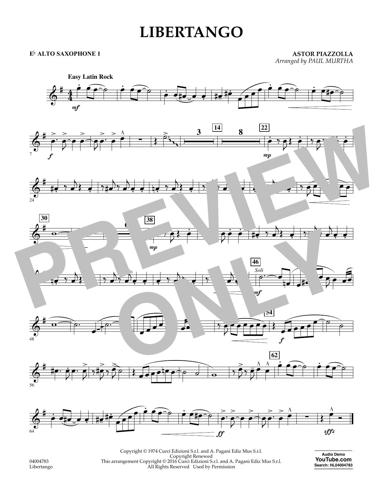 Libertango - Eb Alto Saxophone 1 (Concert Band)