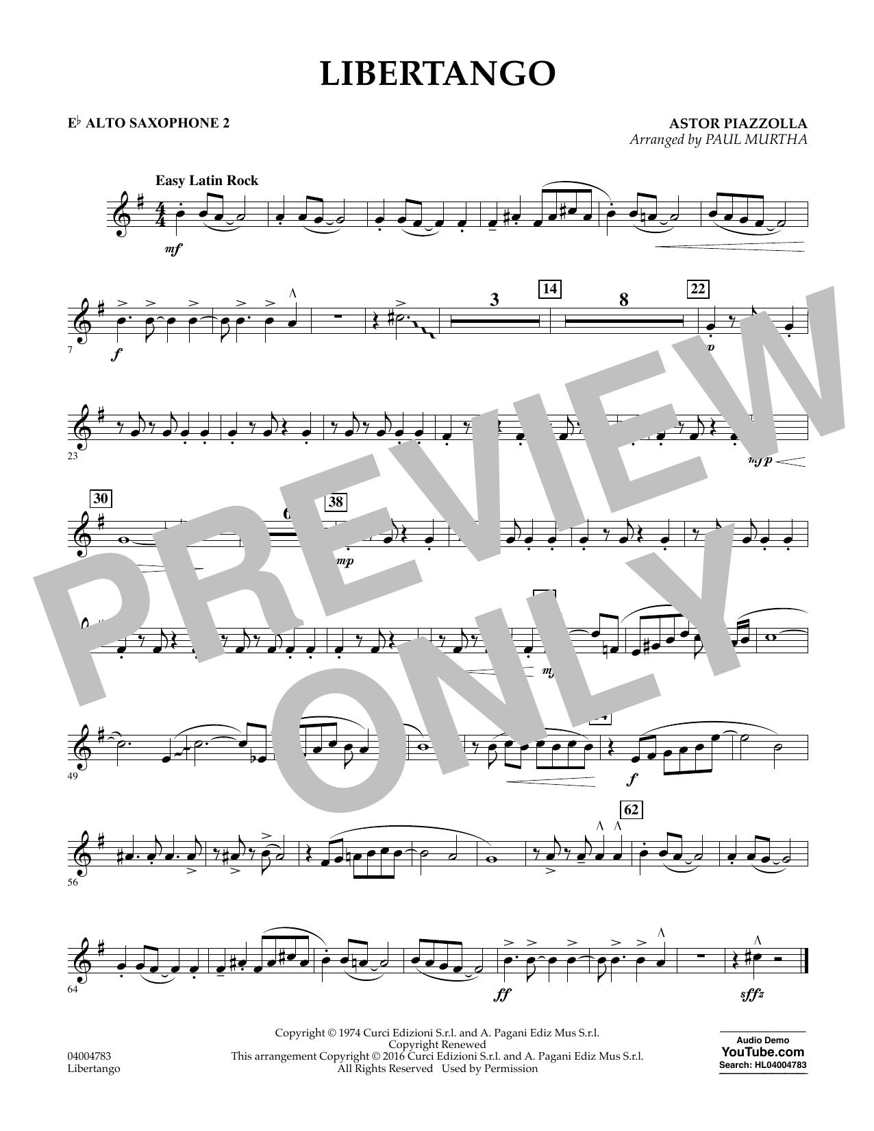 Libertango - Eb Alto Saxophone 2 (Concert Band)