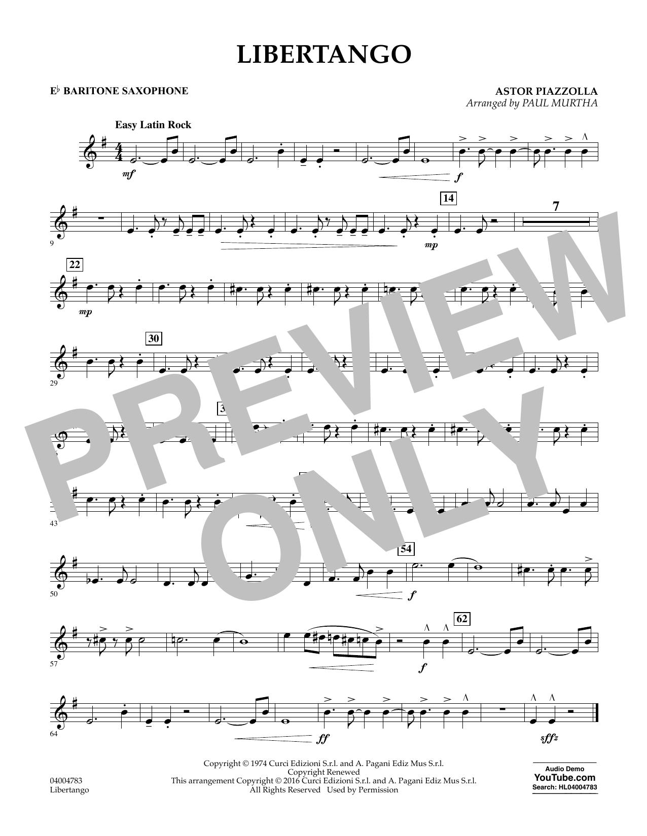 Libertango - Eb Baritone Saxophone (Concert Band)