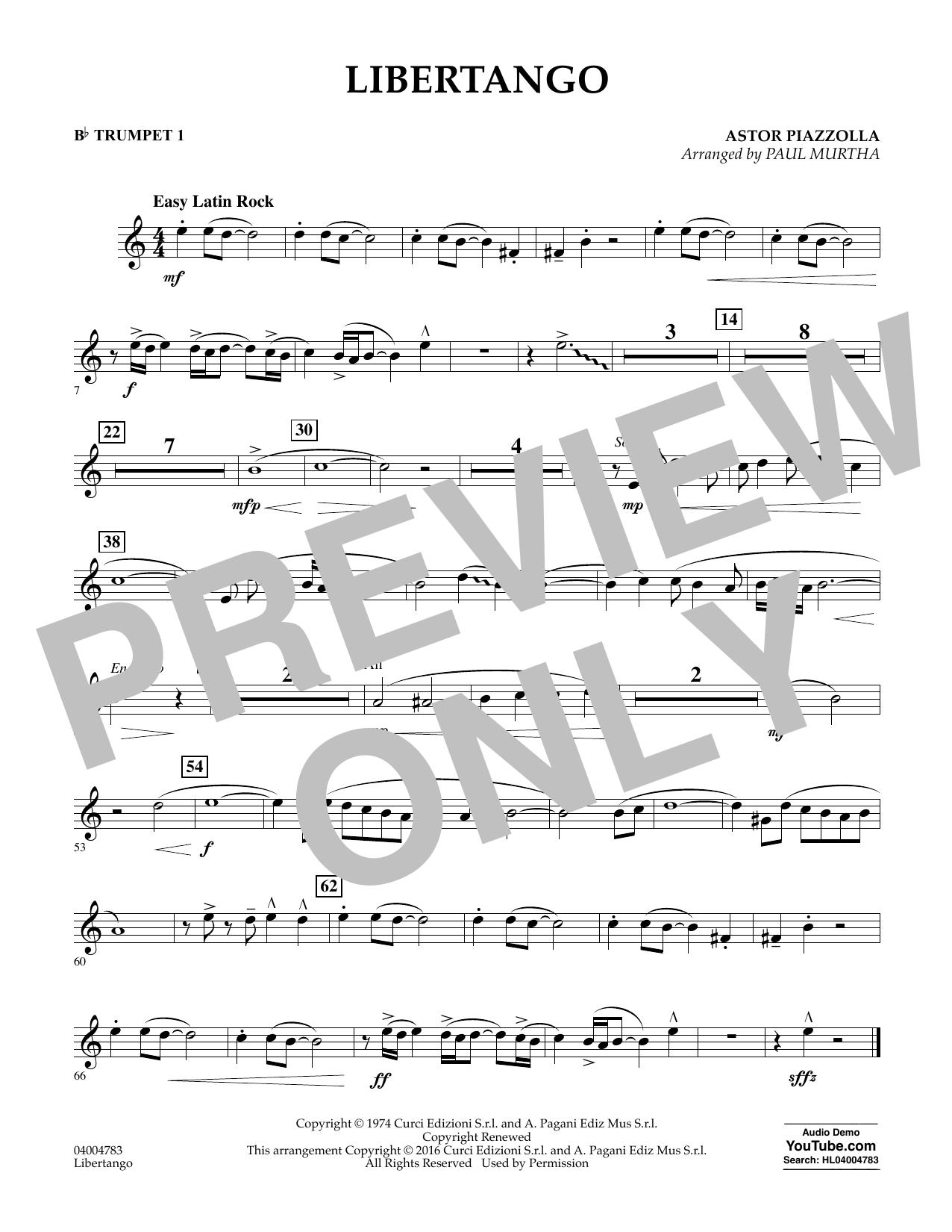 Libertango - Bb Trumpet 1 (Concert Band)