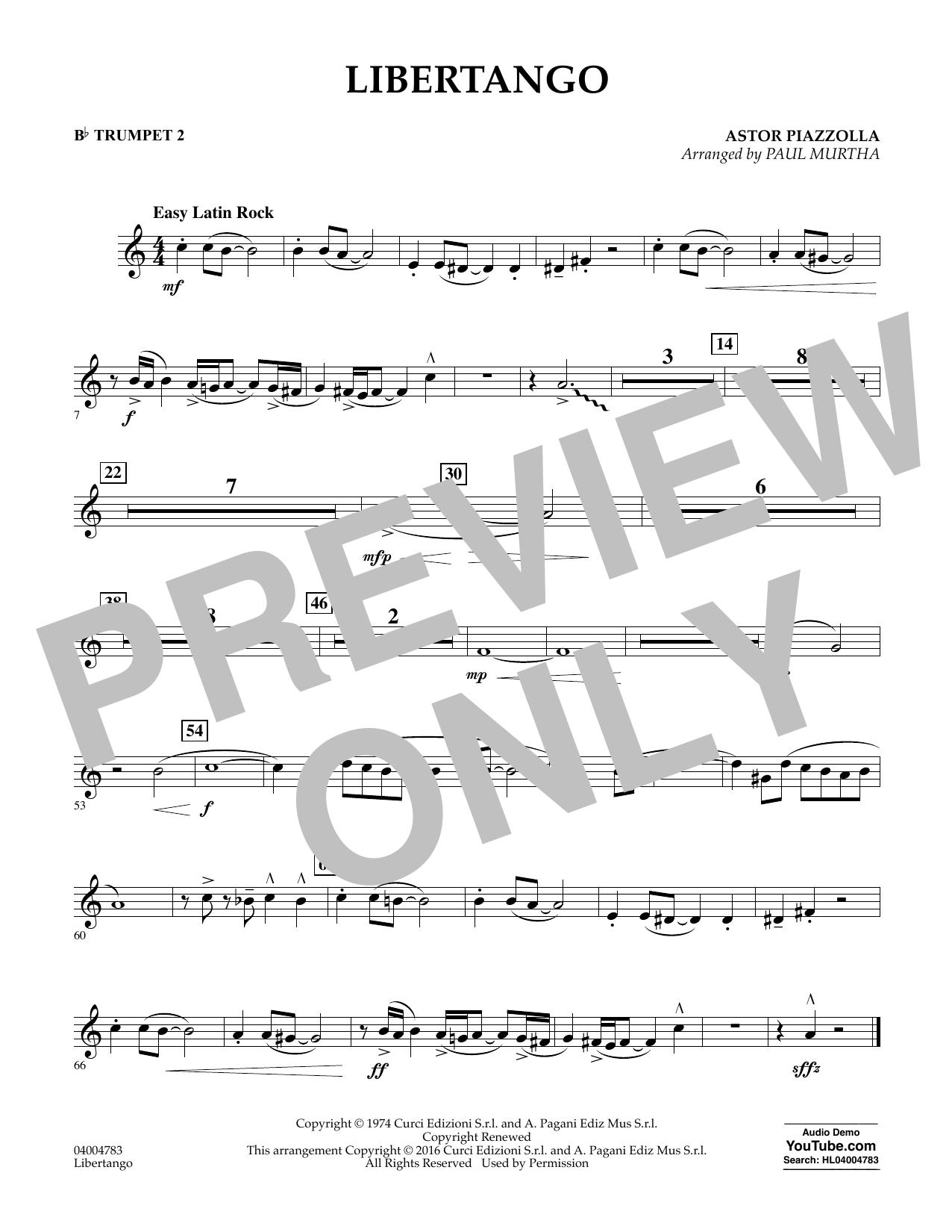 Libertango - Bb Trumpet 2 (Concert Band)