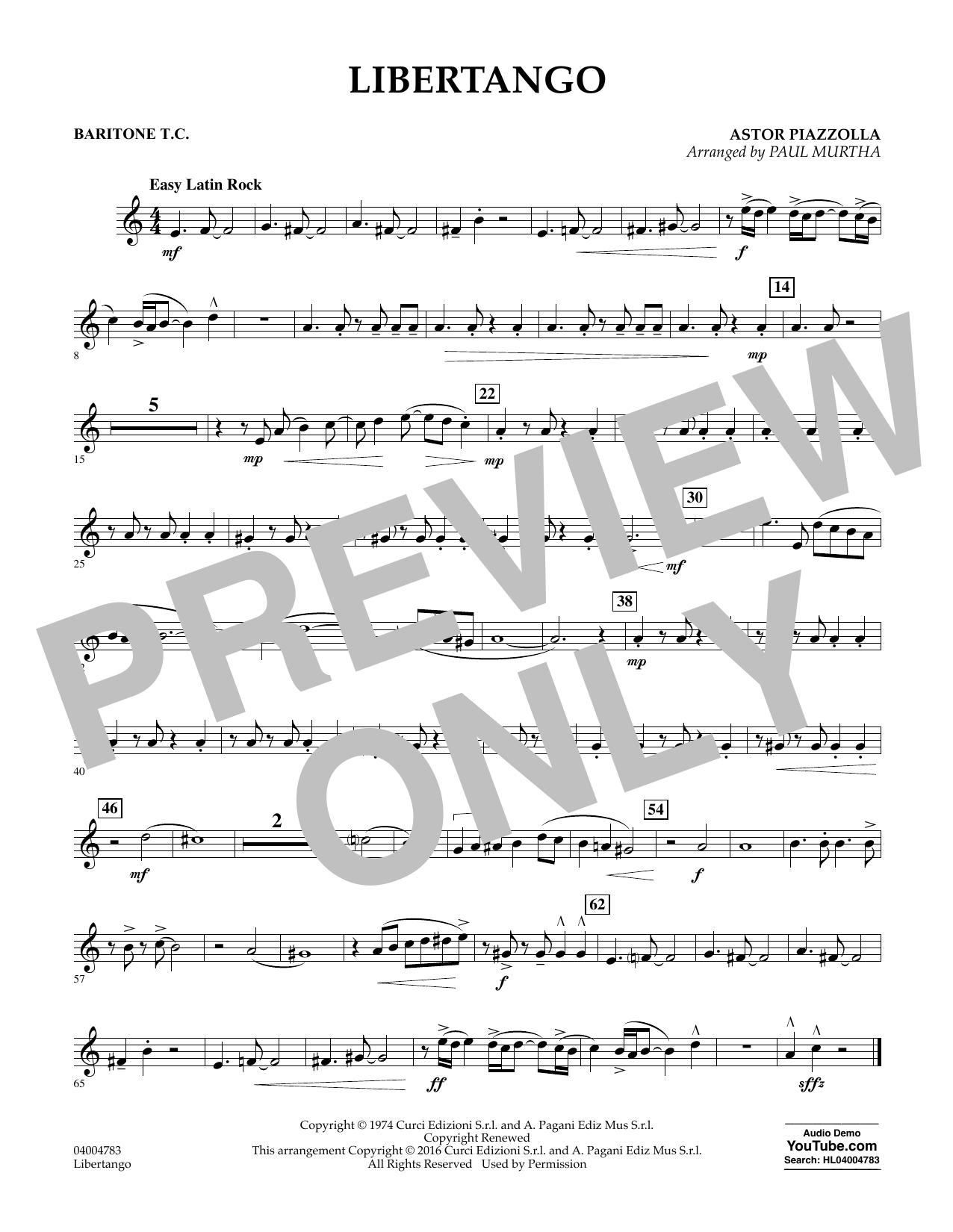 Libertango - Baritone T.C. (Concert Band)