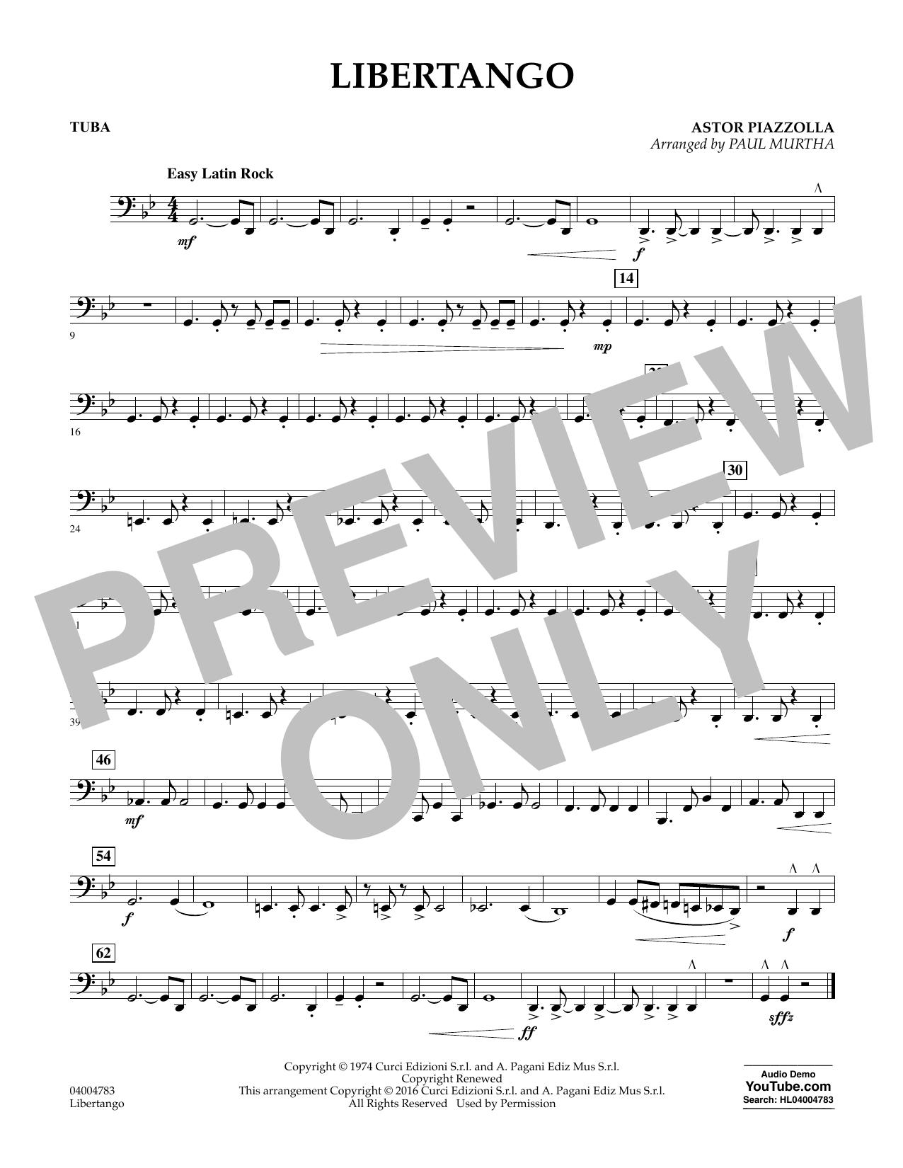 Libertango - Tuba (Concert Band)