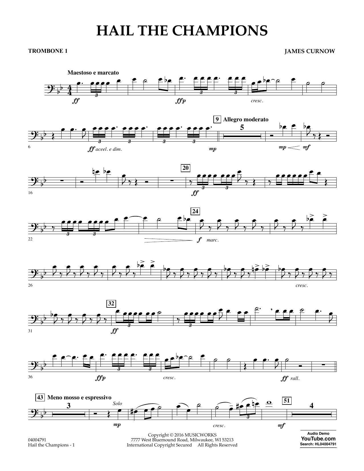 Hail the Champions - Trombone 1 (Concert Band)
