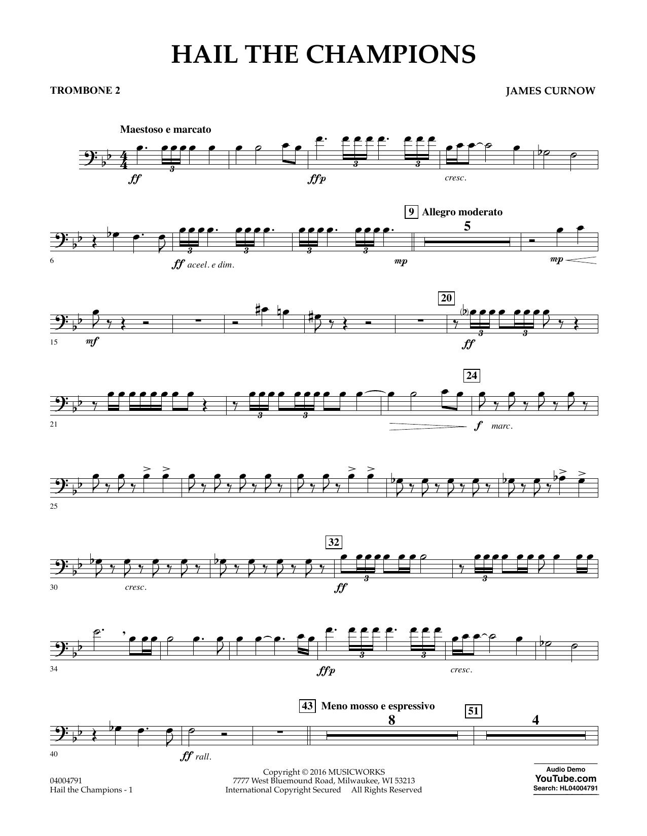 Hail the Champions - Trombone 2 (Concert Band)