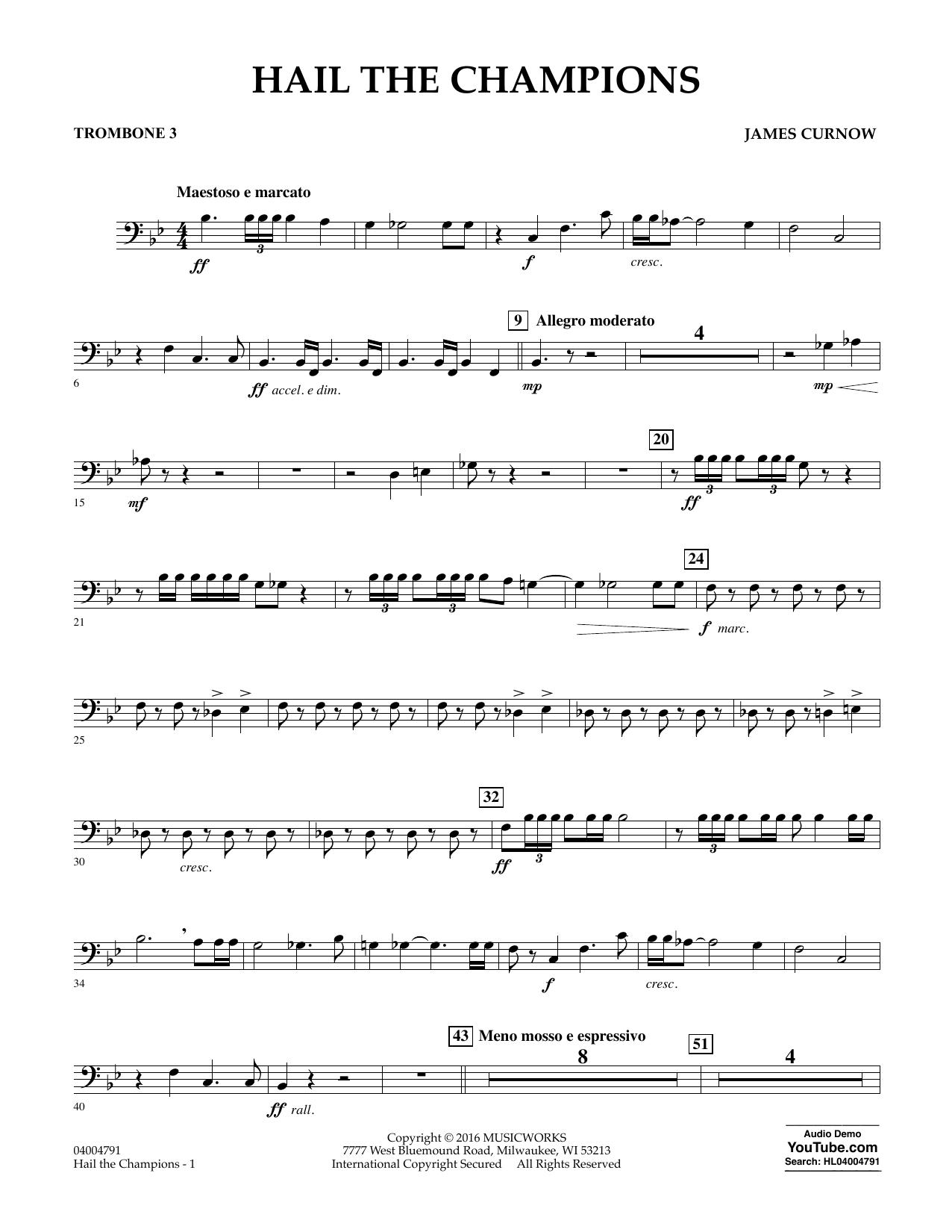 Hail the Champions - Trombone 3 (Concert Band)
