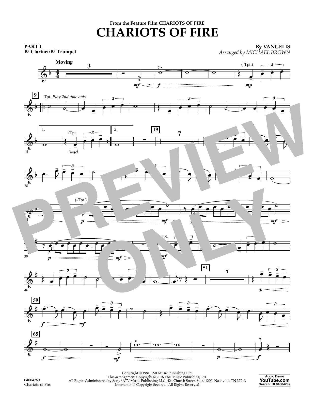 Chariots of Fire - Pt.1 - Bb Clarinet/Bb Trumpet (Flex-Band)