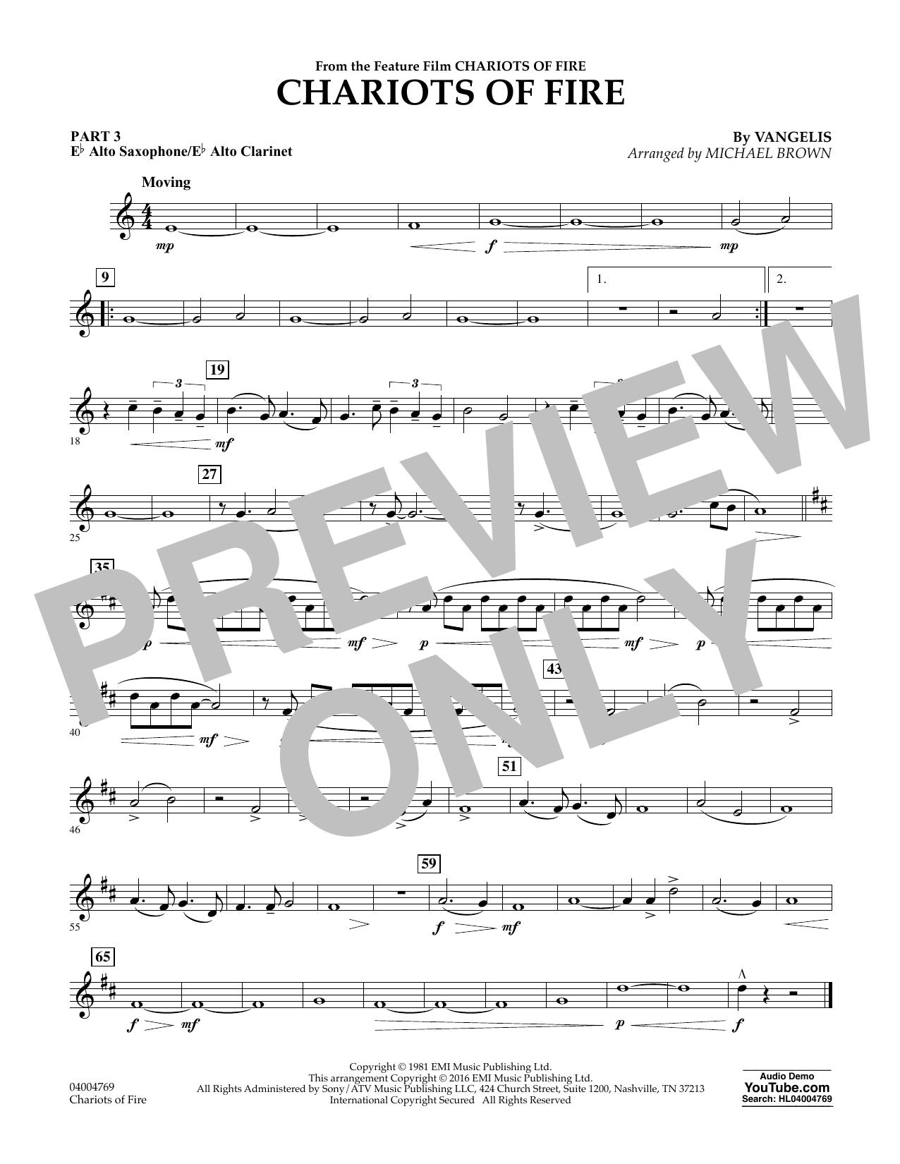Chariots of Fire - Pt.3 - Eb Alto Sax/Alto Clar. (Flex-Band)