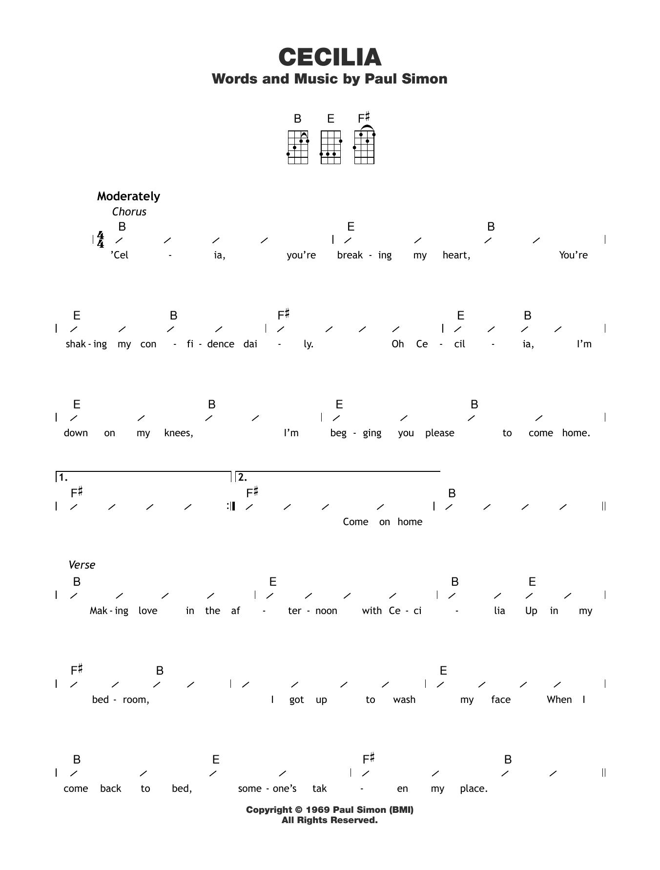 Cecilia Sheet Music