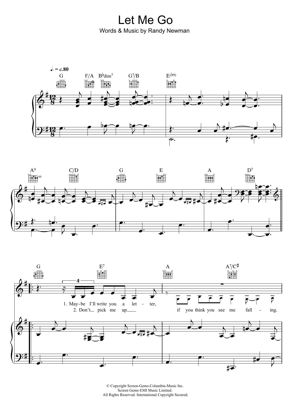 Let Me Go Sheet Music