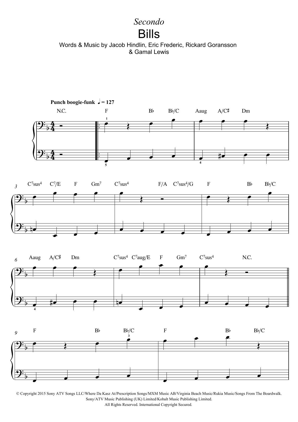 Bills Sheet Music