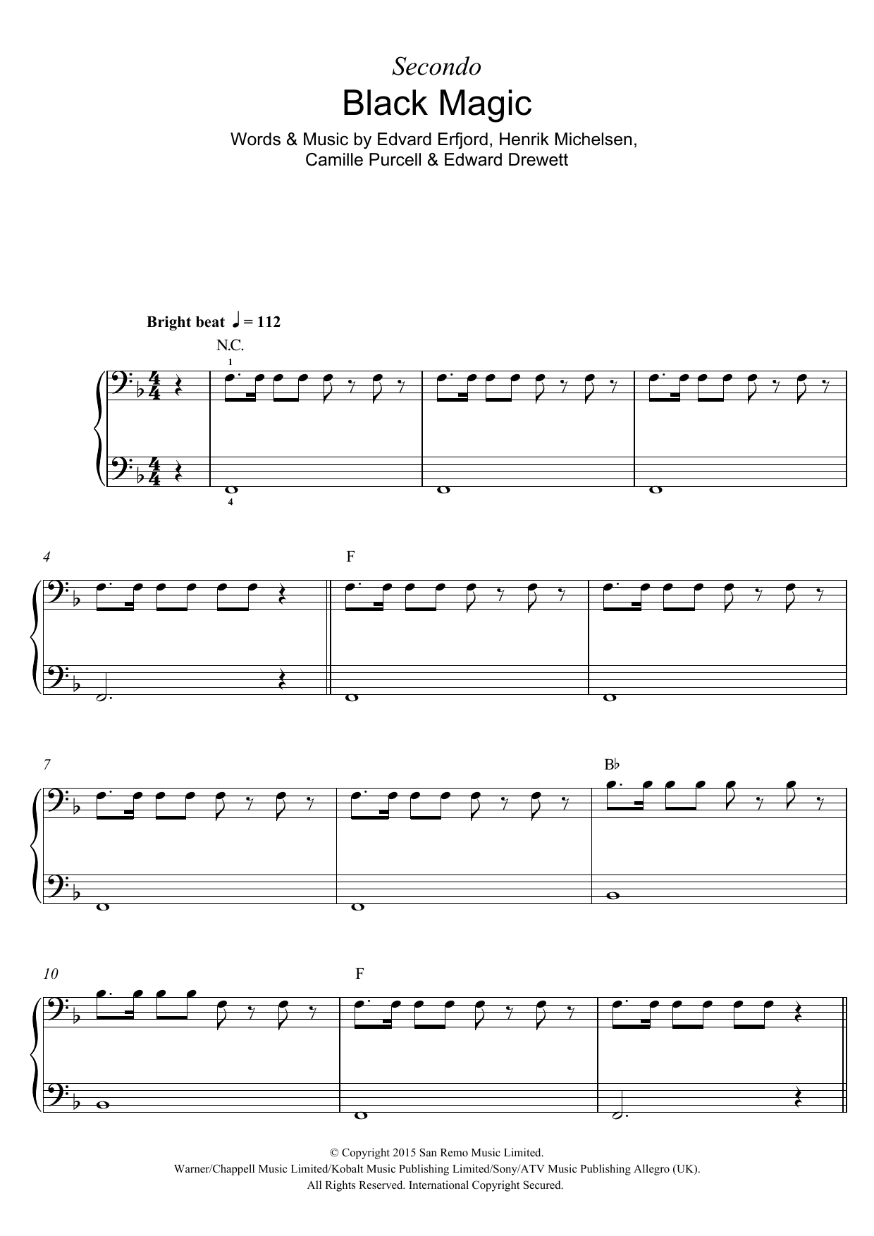 Black Magic Sheet Music