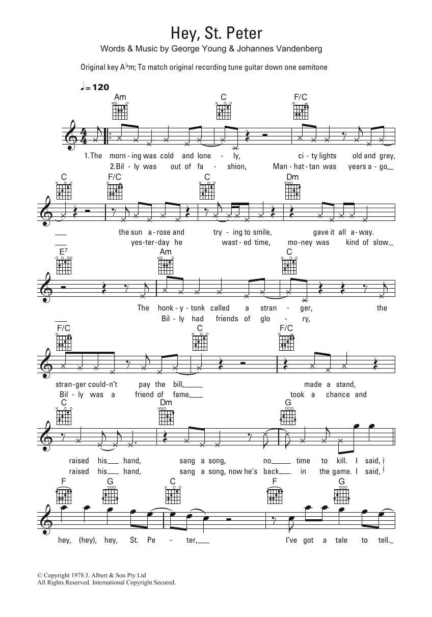 Hey, St. Peter Sheet Music