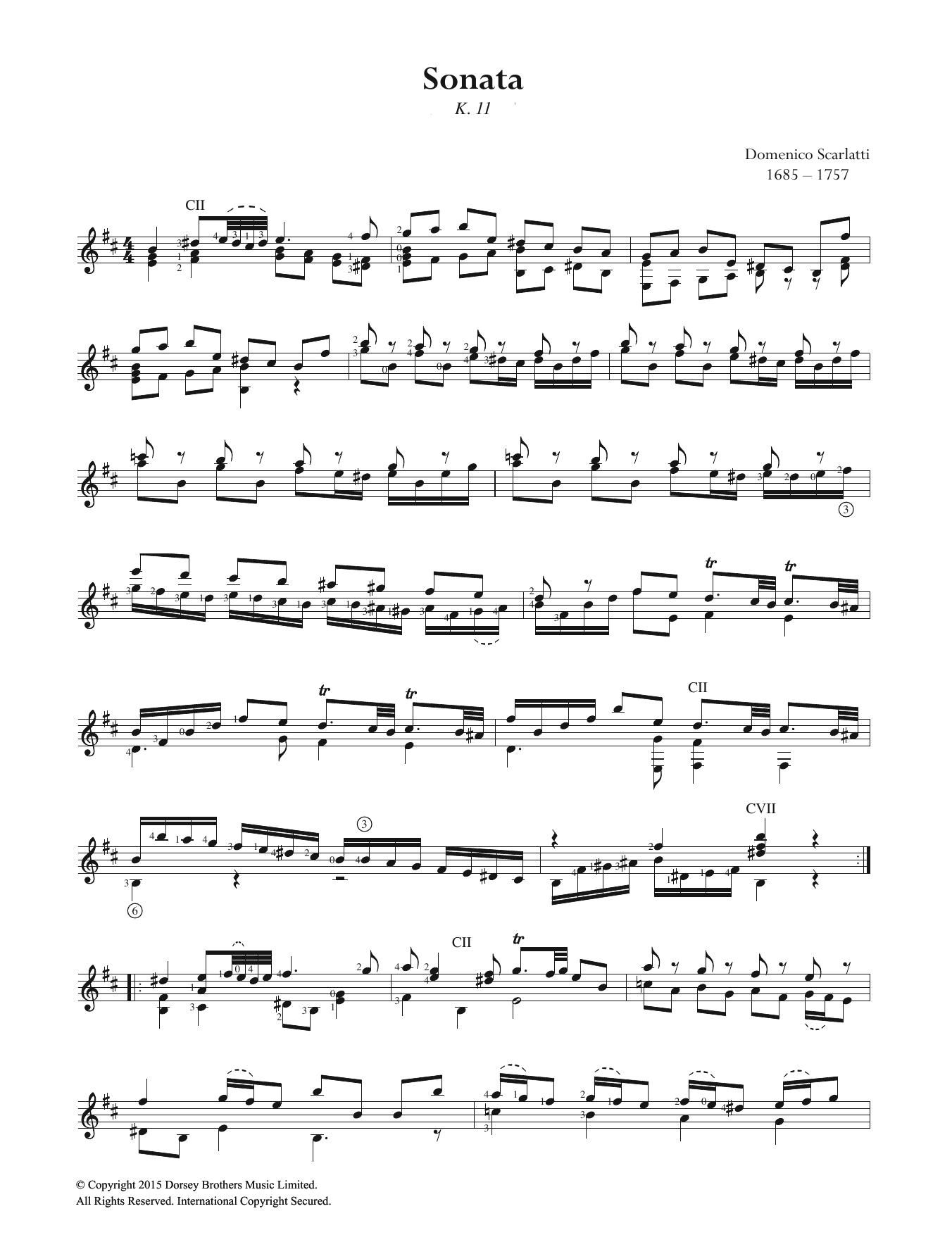 Sonata K.11 Sheet Music