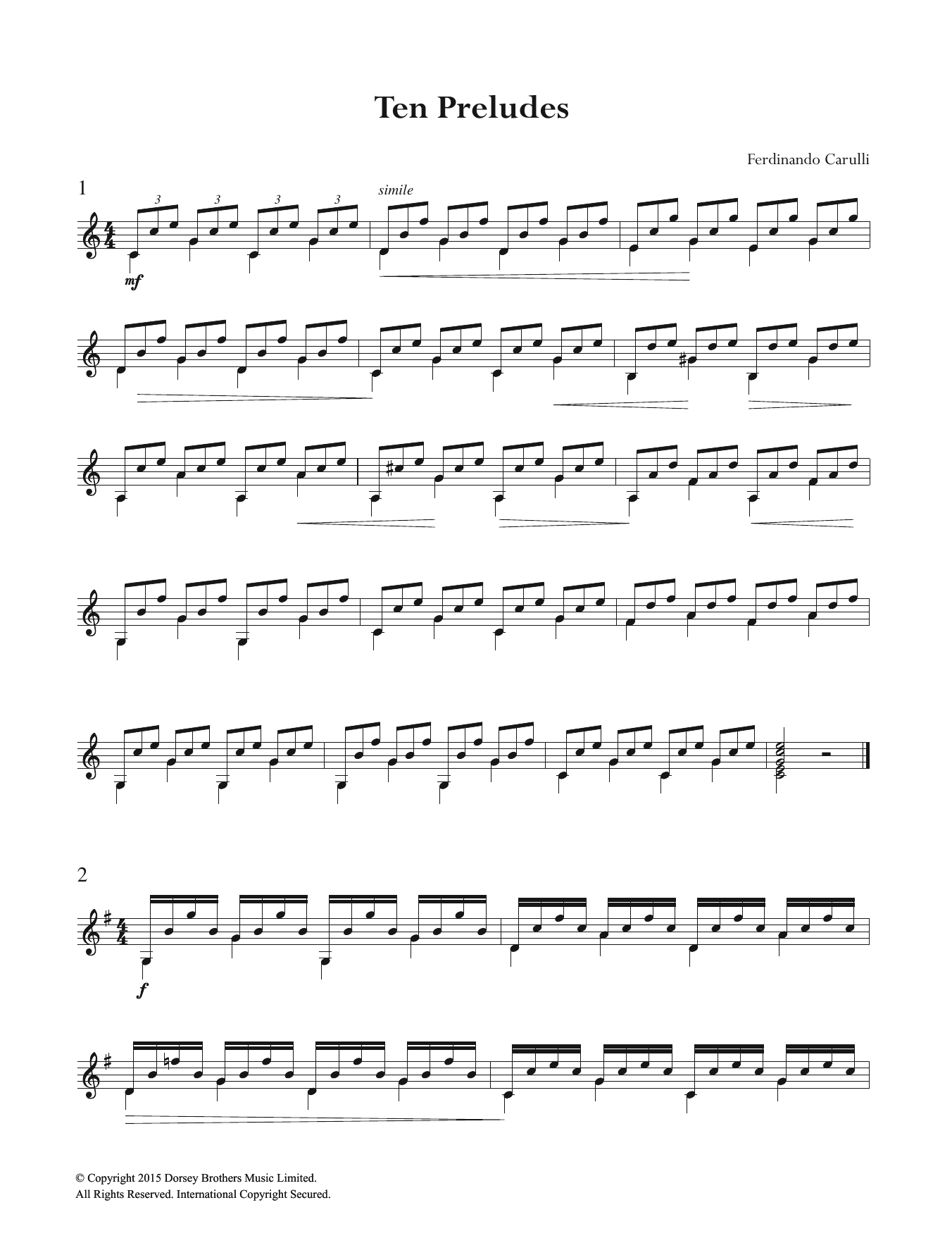 Ten Preludes Sheet Music