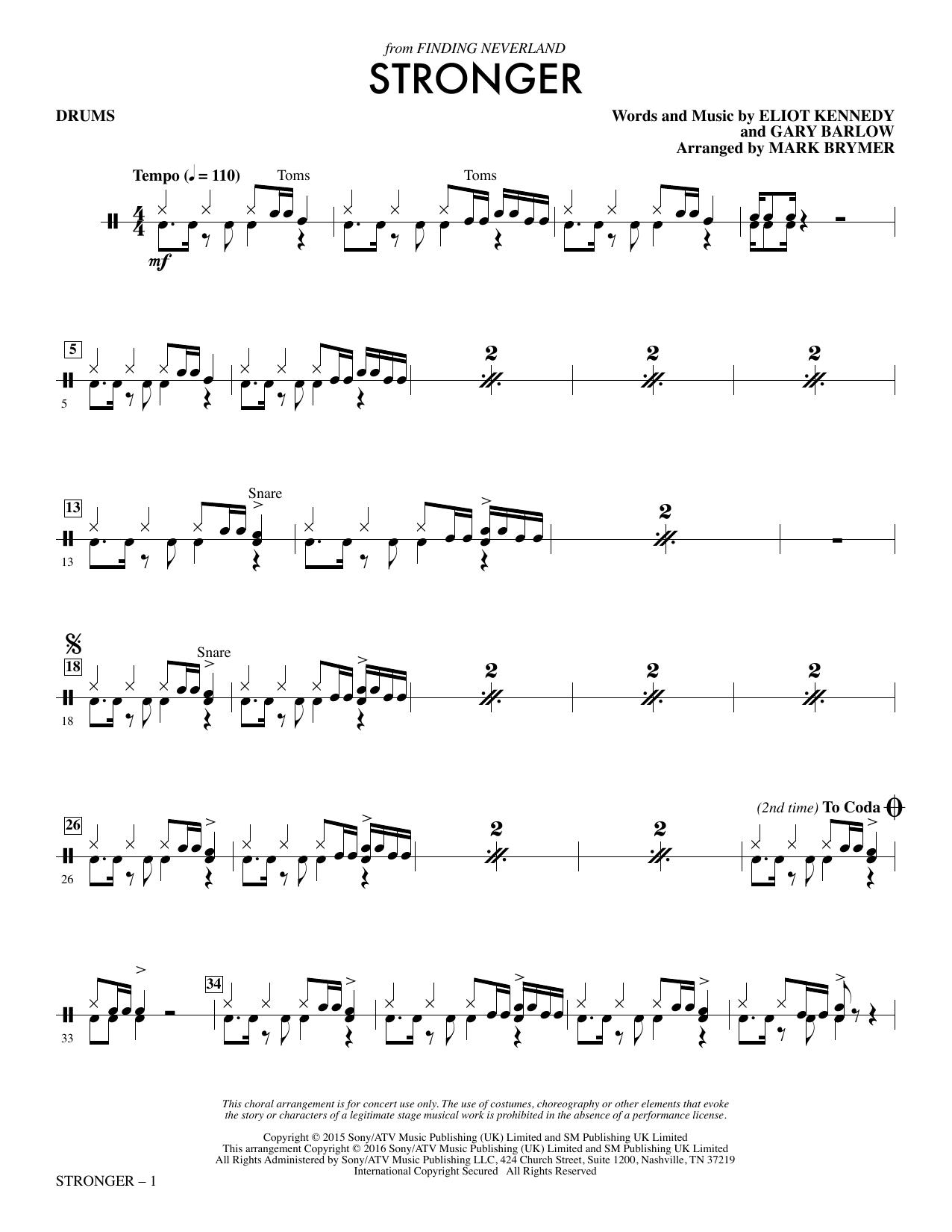 Stronger - Drum Set (Choir Instrumental Pak)