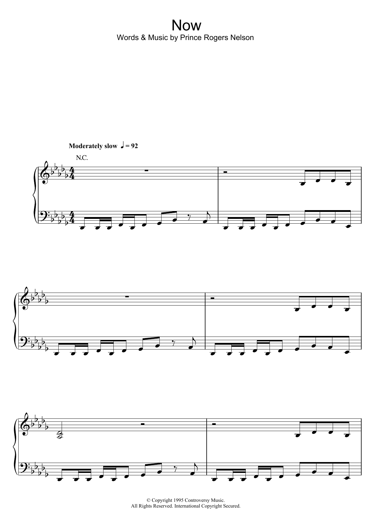 Now Sheet Music