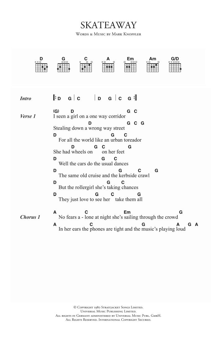 Skateaway Sheet Music