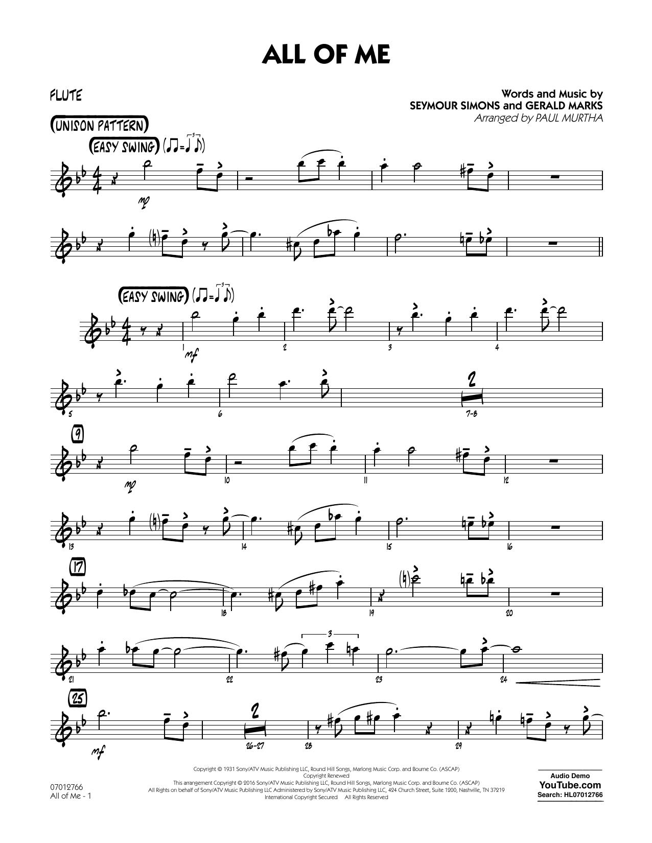 All of Me - Flute (Jazz Ensemble)