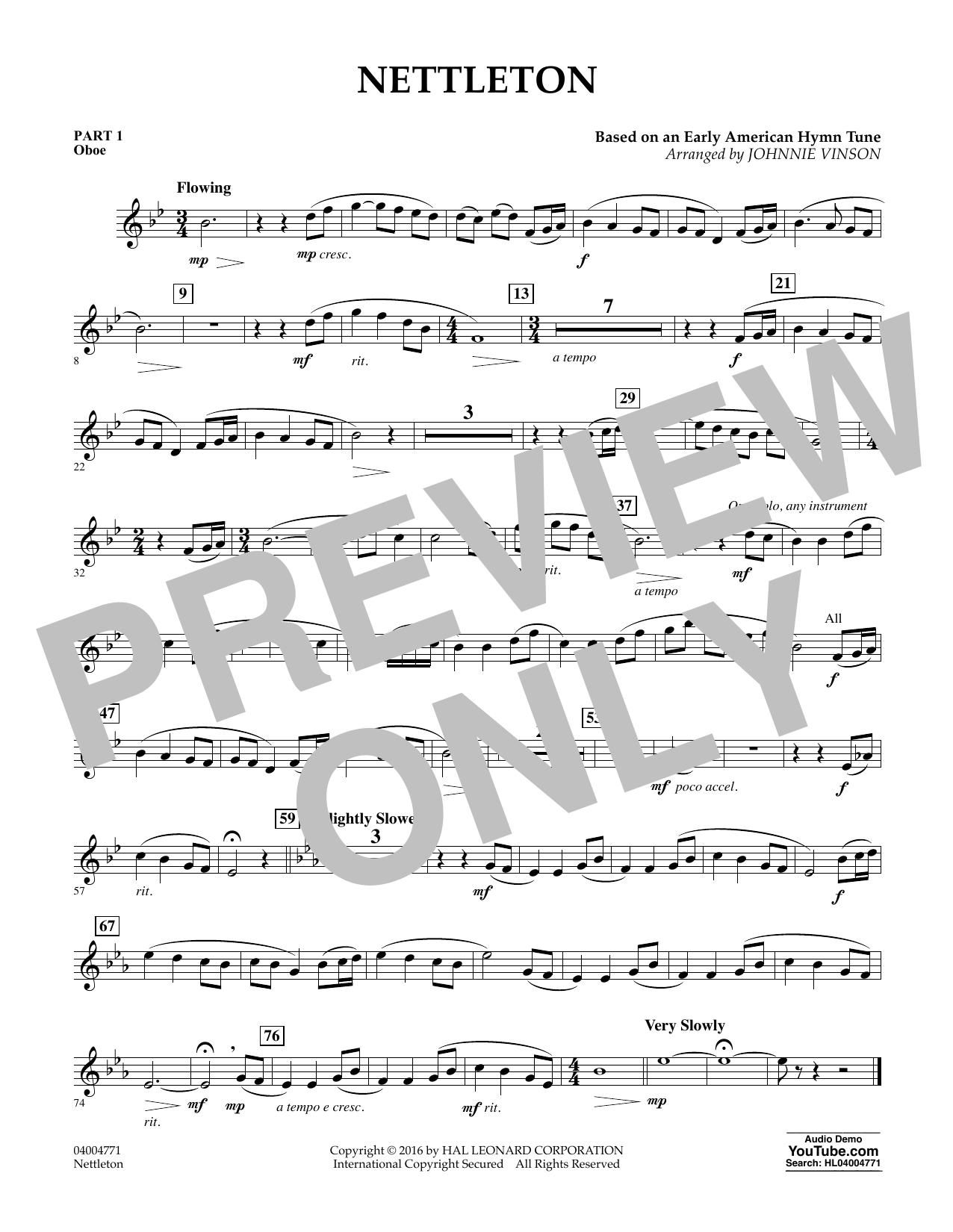 Nettleton - Pt.1 - Oboe (Flex-Band)