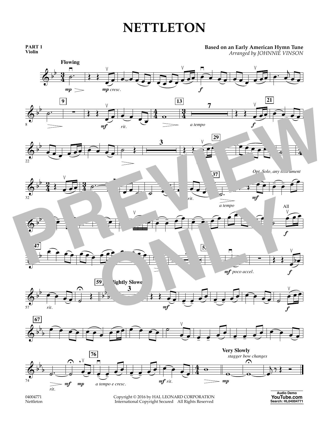 Nettleton - Pt.1 - Violin (Flex-Band)