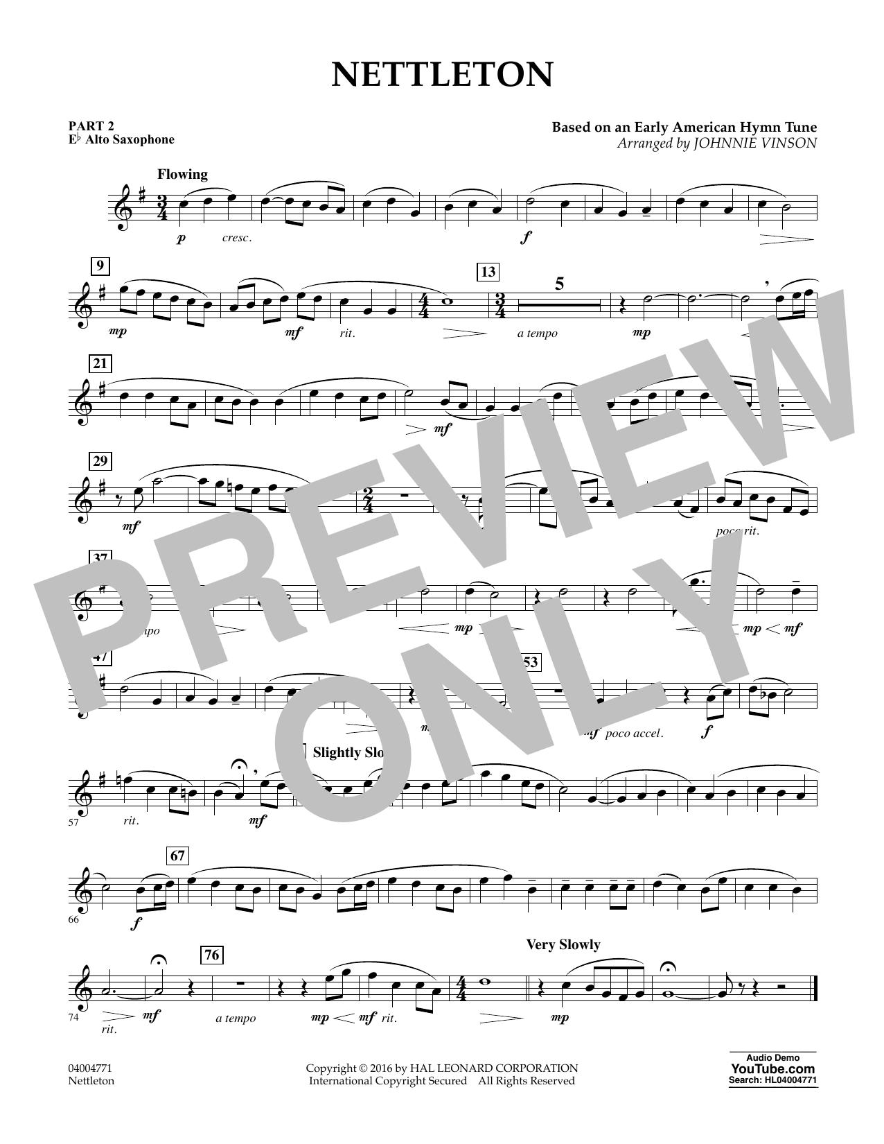 Nettleton - Pt.2 - Eb Alto Saxophone (Flex-Band)