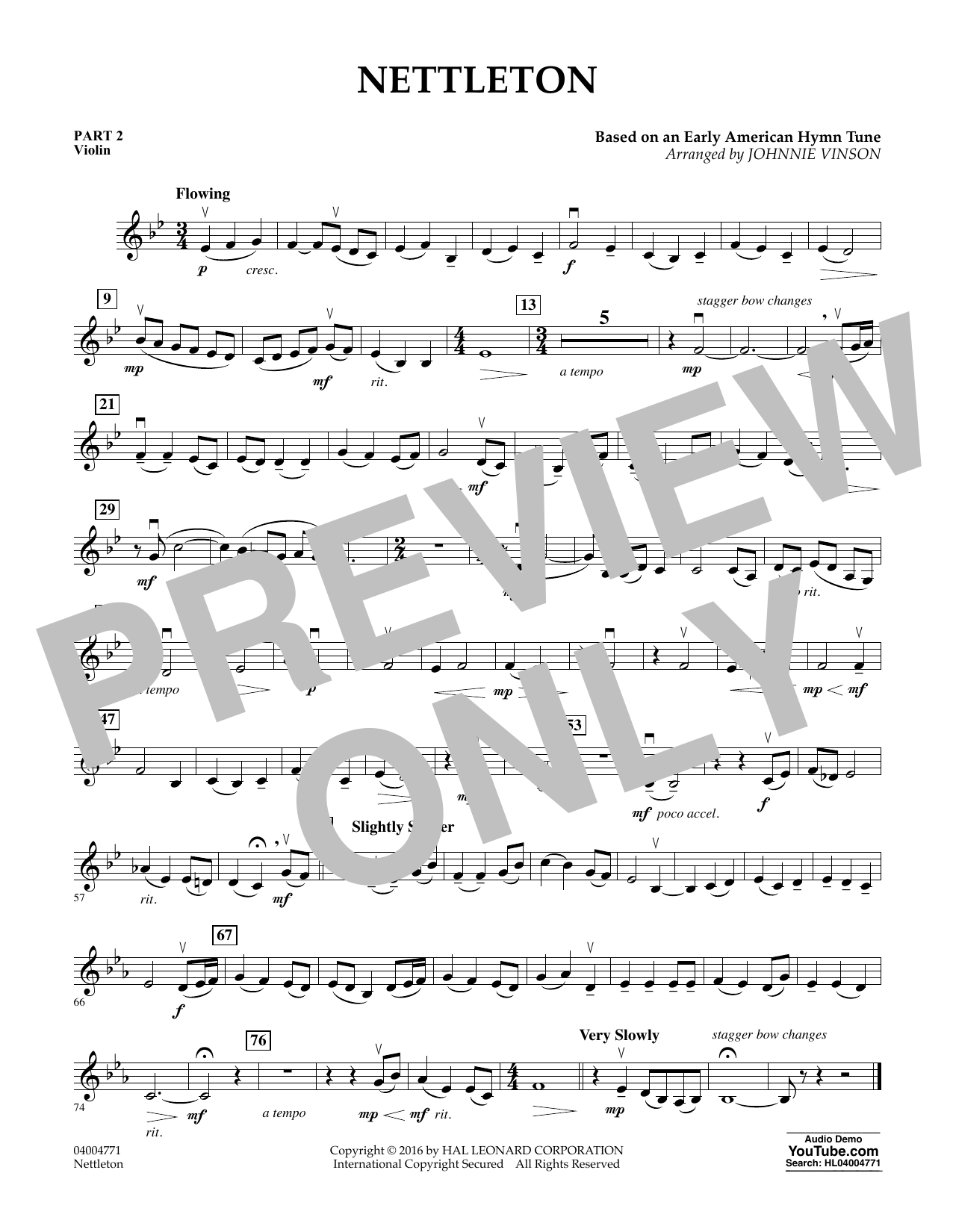 Nettleton - Pt.2 - Violin (Flex-Band)